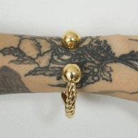 Twist Gold Bracelet - U Dourado