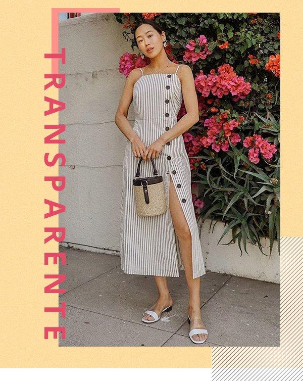 Aimee Song - Sandália - Transparente - Primavera - Street Style