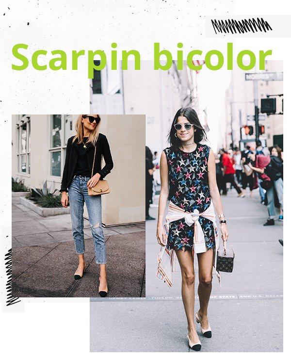 It girls - Scarpin bicolor  - Sapato - Primavera - Street Style