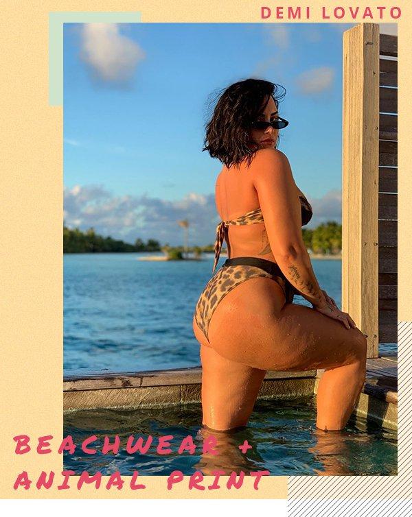 Demi Lovato - Beachwear - Animal print - Primavera - Street Style