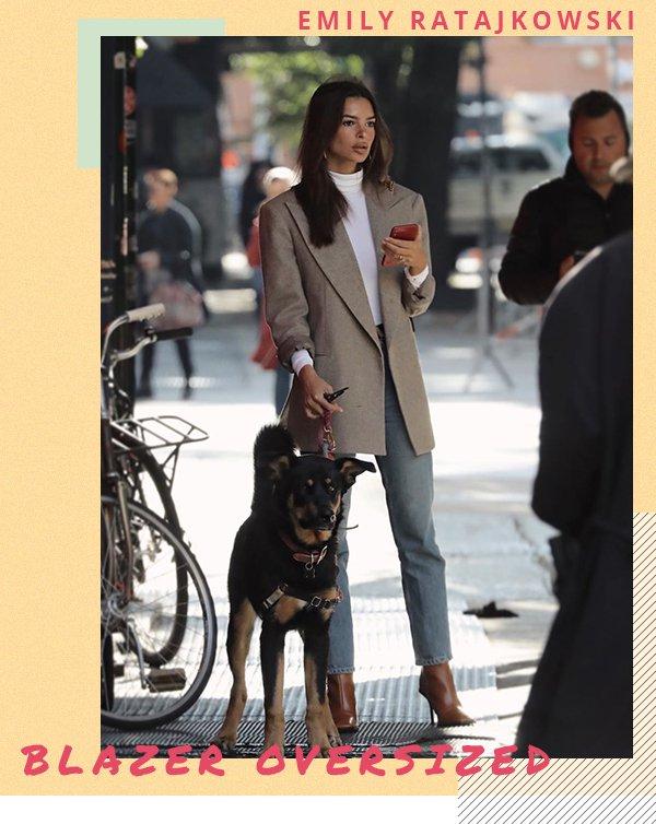 Emily Ratajkowski - Blazer - Oversized - Primavera - Street Style
