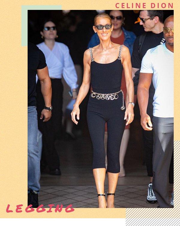 Celine Dion - Legging - Legging - Primavera - Street Style