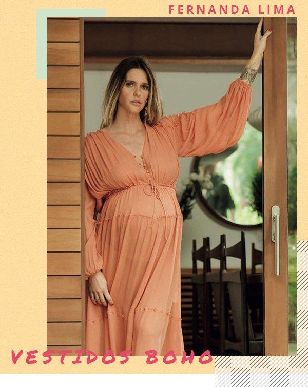 Fernanda Lima - Vestido - Boho - Primavera - Street Style
