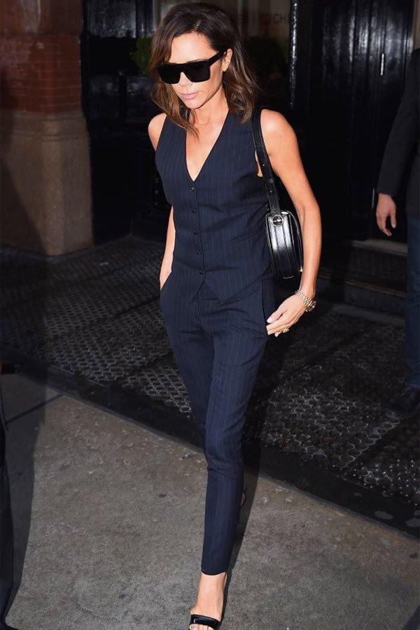 Victoria Beckham -      - colete - verão - street style