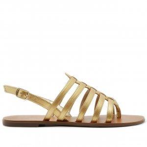 Sandália Basic Tiras Dourada | Anacapri