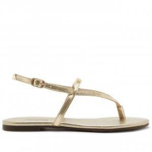 Sandália Tiras Finas Dourada | Anacapri