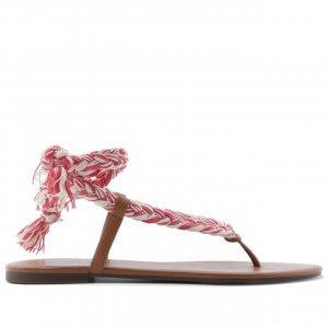Sandália Trança Amarração Vermelho | Anacapri