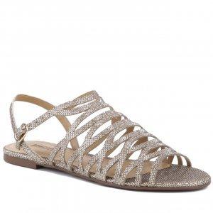 Sandália Rasteira Ana Glam Dourada | Anacapri