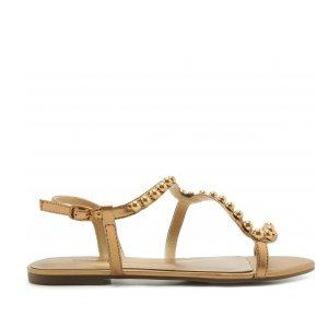 Sandália Curva Tachas Bronze | Anacapri