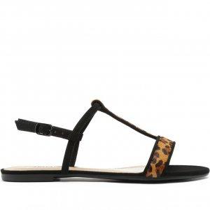 Sandália Tiras Mini Onça | Anacapri