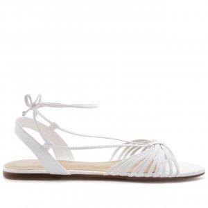 [Pré Venda] Sandália Tiras Amarração Branca | Anacapri