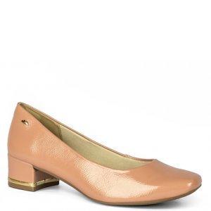Sapato Dakota  Salto Baixo Verniz Nude