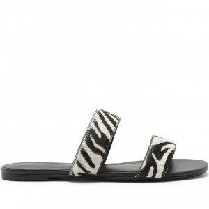 Rasteira Tiras Zebra | Anacapri