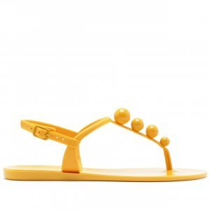 Sandália Bolinhas Amarela | Anacapri