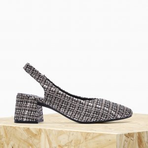 Scarpin Alme Isabella Tweed Mescla | Outstore