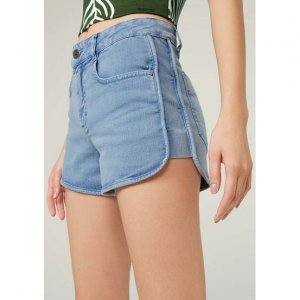 Shorts Jeans Pin Up  Com Barra Arredondada