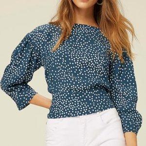 Blusa Estampada Com Amarração