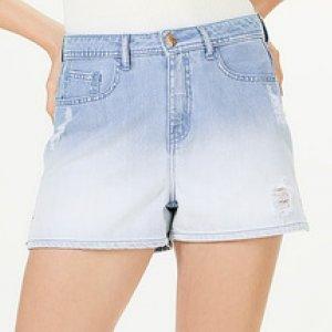 Shorts Jeans Feminino Com Detalhes Destroyed