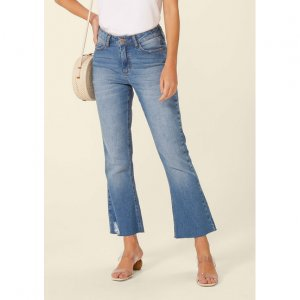 Calça Jeans Boot Cut Cropped