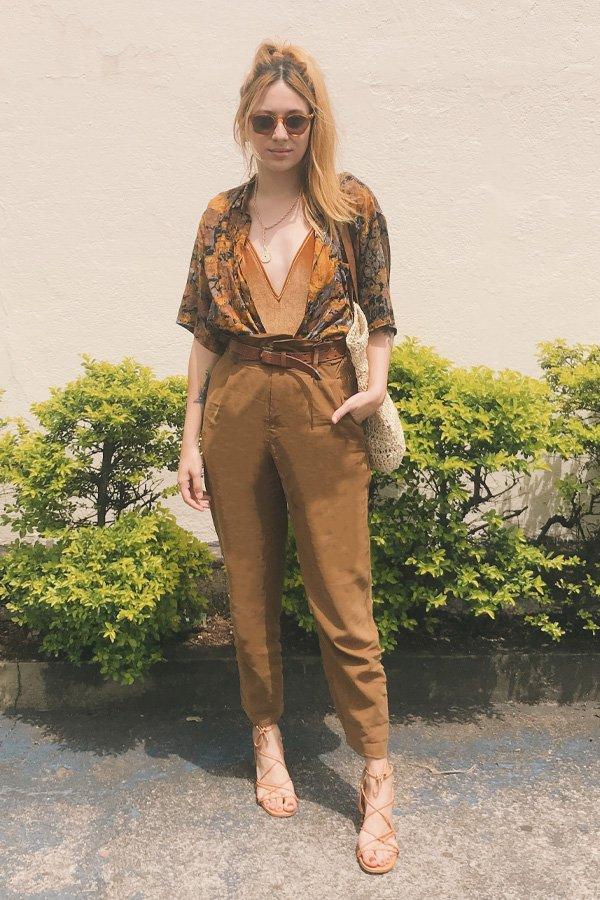 Ali Santos - calça e body - calça e body - verão - street style
