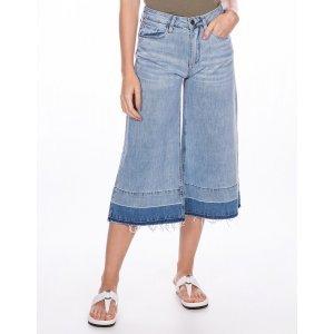 Calça Feminina Jeans Wide Cropped