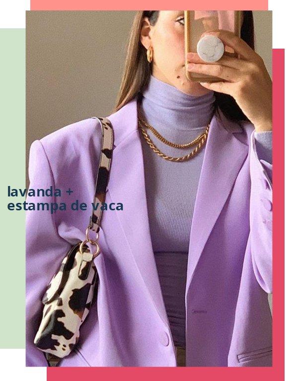 It girls - Blazer - Lavanda com animal print - Primavera - Street Style