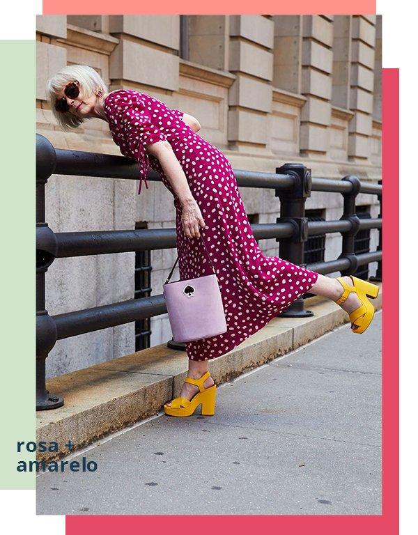 It girls - Vestido - Rosa e amarelo - Primavera - Street Style