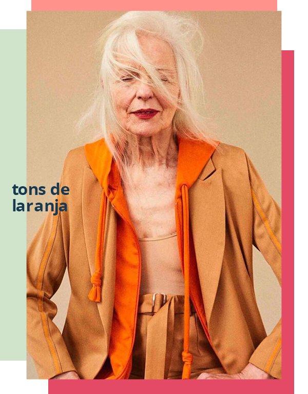 It girl - Blazer - Tons de laranja  - Primavera - Street Style