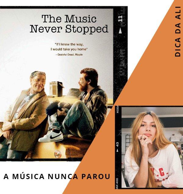Ali Santos - filmes - a musica nunca parou - séries - netflix