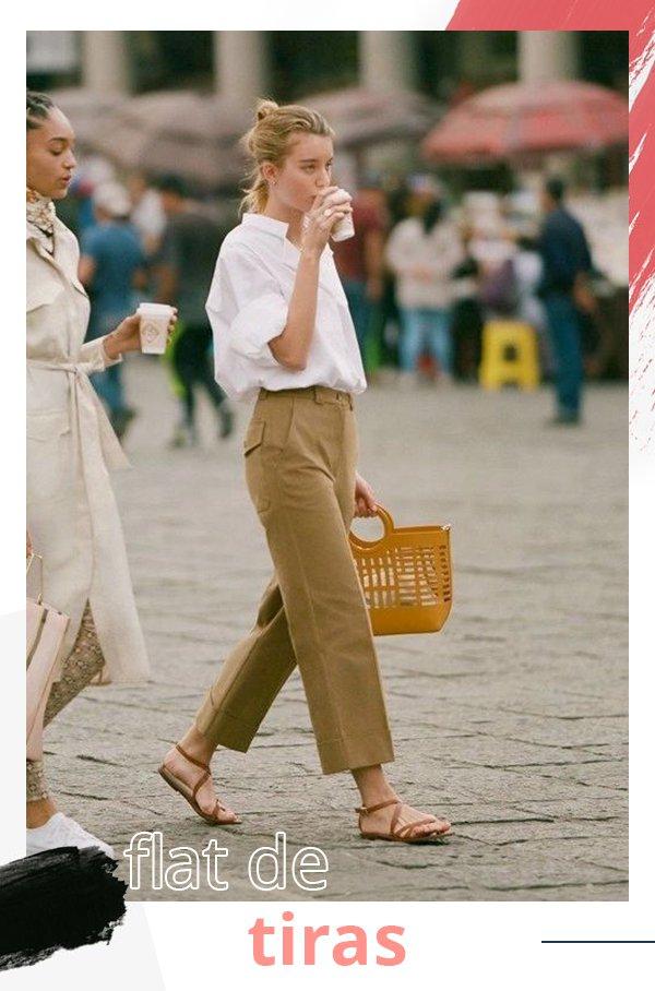 It girls - Flats - Flat de tiras - Verão - Street Style