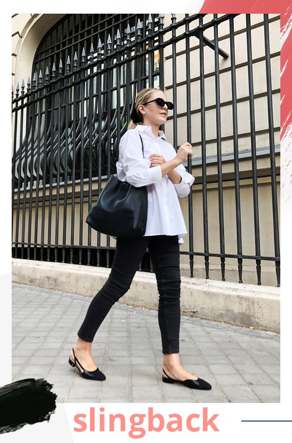 It girls - Flats - Slingback - Verão - Street Style