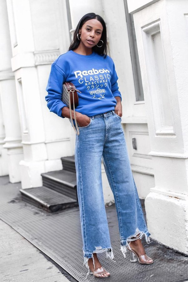 Janelle Marie Lloyd - calça jeans e moletom - calça jeans e moletom - verão - street style