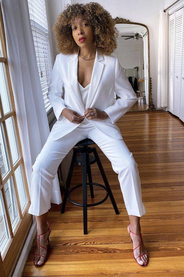 Karen Blanchard - macacão e blazer - macacão e blazer - verão - street style