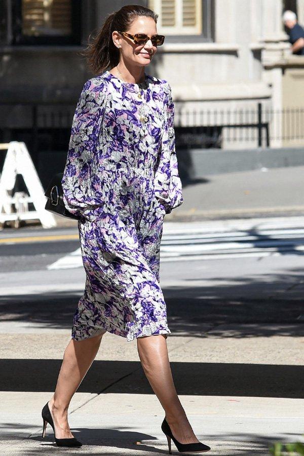 Katie Holmes - vestidos - vestidos românticos  - verão - street style