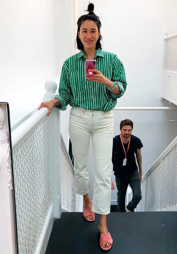 Eva Chen - jeans - jeans - verão - street-style
