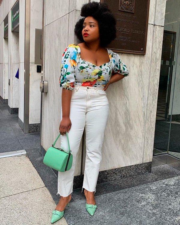 Ada Oguntodu - jeans-branco - jeans - verão - street-style