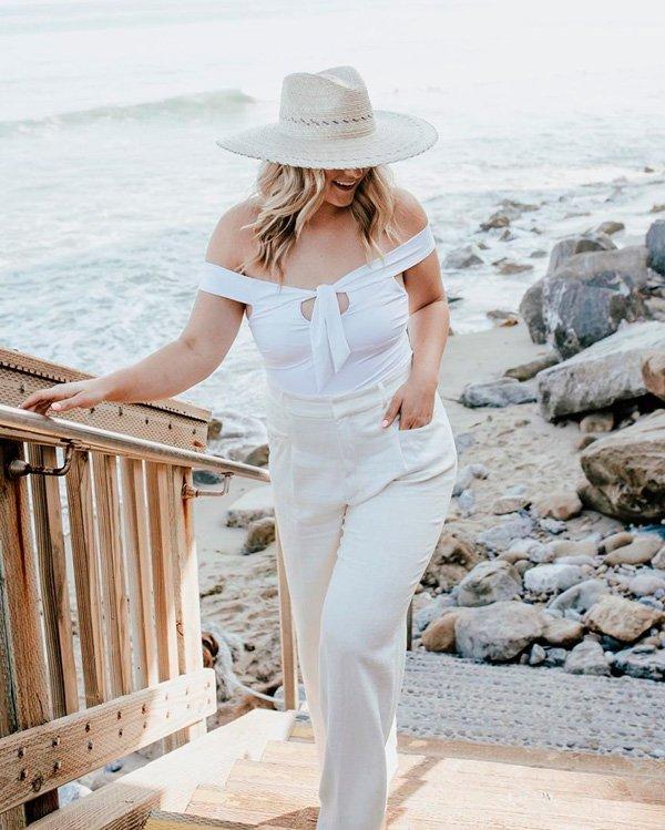 Raeann Langas - all-white - branco - verão - street-style