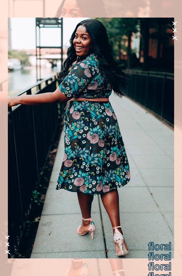 Hayet Rida - vestido-floral - floral - verão - street-style