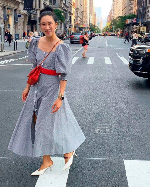 Eva Chen - kitten heels - kitten heels - verão - street-style