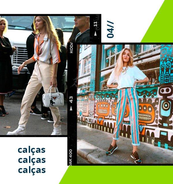 Gigi Hadid - calça - retrô - verão - street-style
