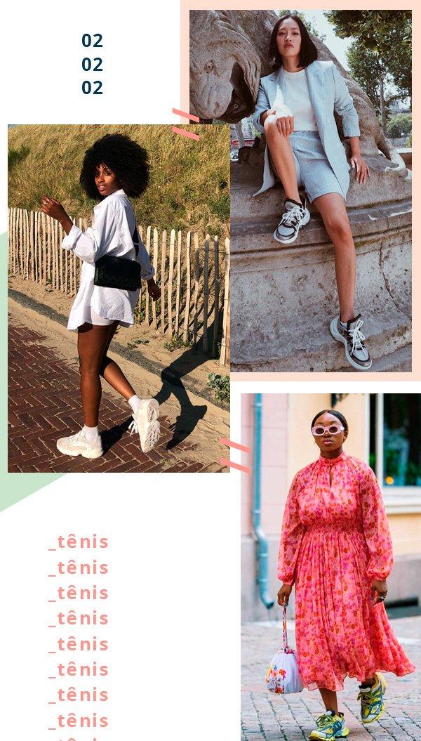 Tiffany Hsu, Claire Most, Nnenna Echem - chunky-sneaker - chunky - verão - street-style