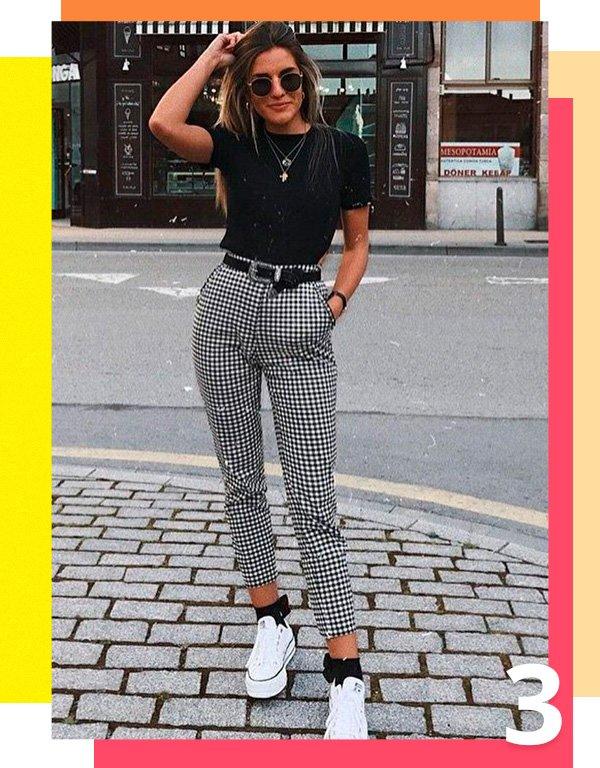 it-girl - calça-xadrez - xadrez - verão - street-style