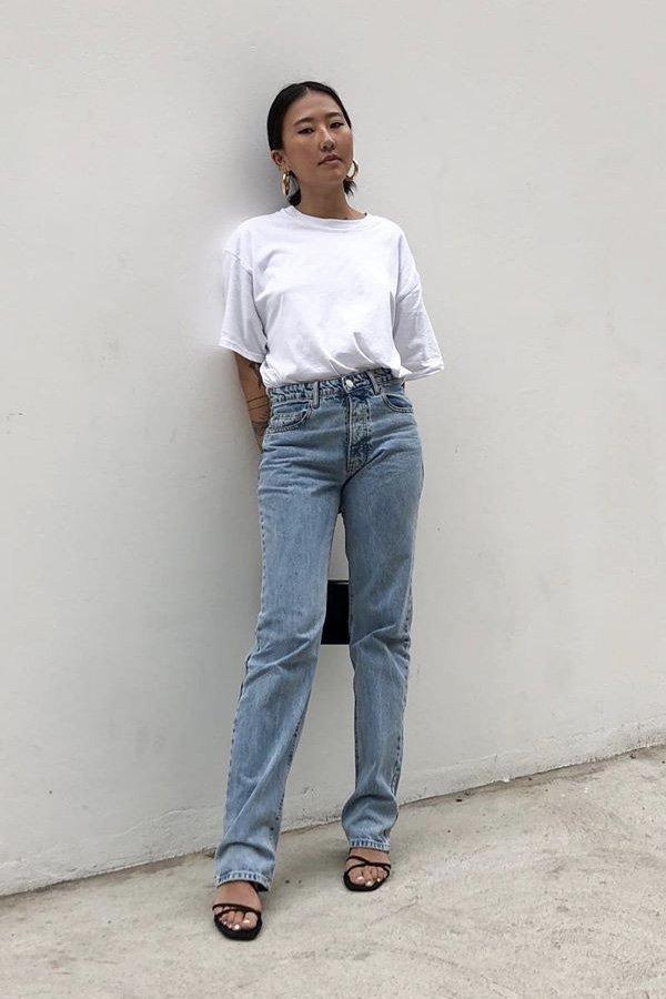 Luciane Sakon - camiseta e calça jeans - camiseta e calça jeans - verão - street style