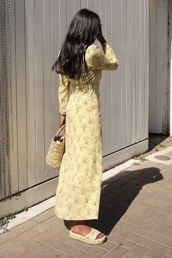 Monikh Dale - vestido - sandalia de corda - verão - street style