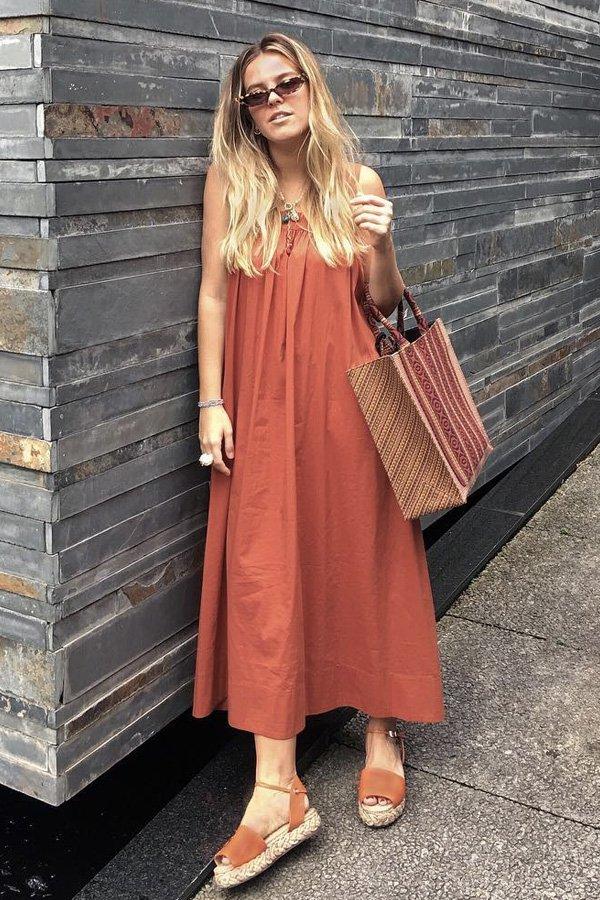 Nathalia Medeiros - vestido - sandalia de corda - verão - street style