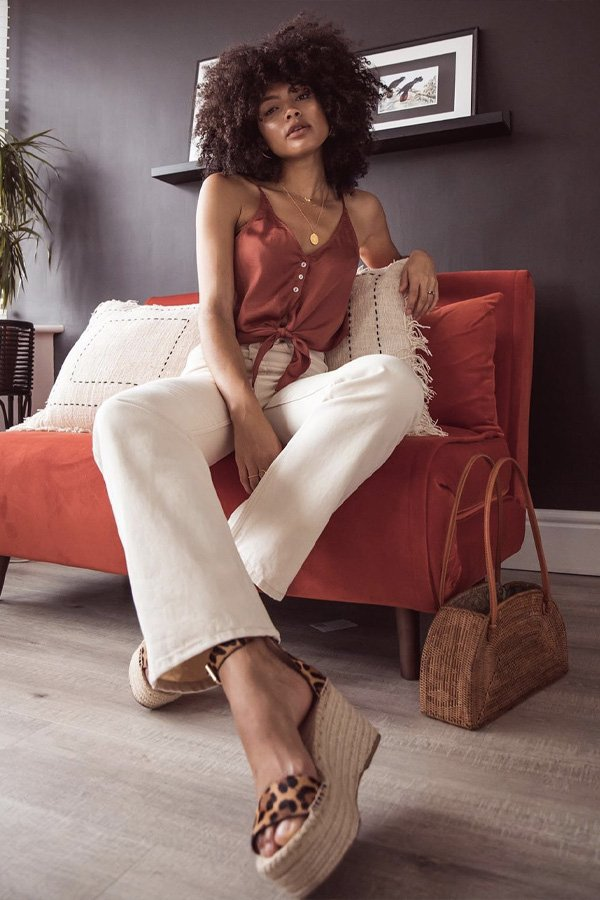 Samio - regata e calça - sandalia de corda - verão - street style