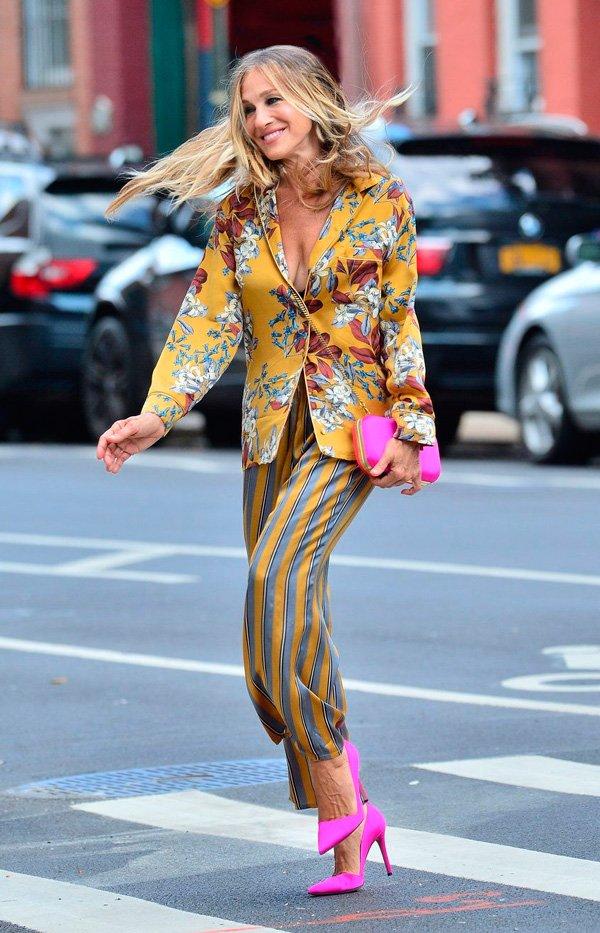 Sarah Jessica Parker - estampa - estampas - verão - street-style