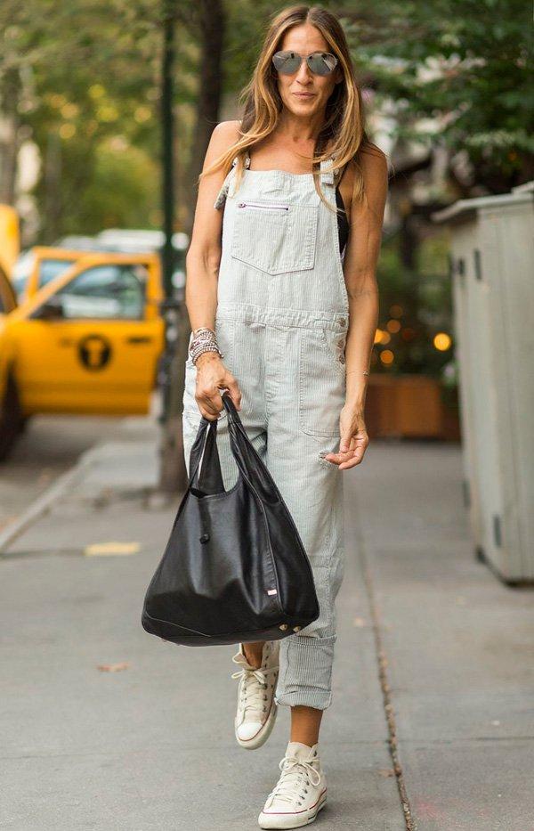 Sarah Jessica Parker - jardineira - jardineira - verão - street-style