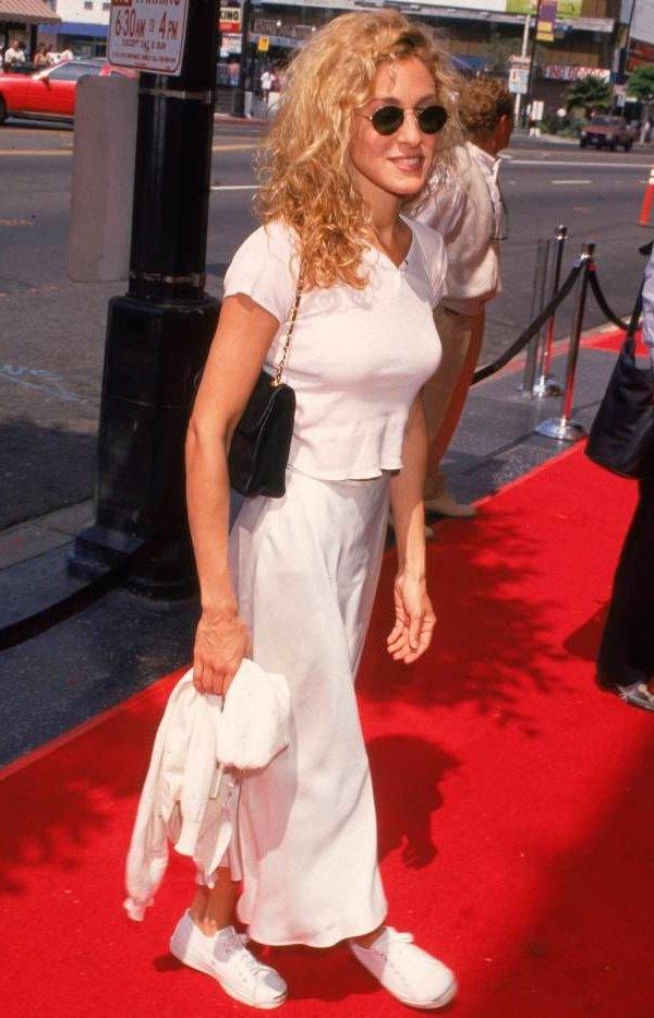 Sarah Jessica Parker - all-white - branco - verão - street-style