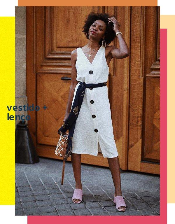Stephanie C. - vestido branco - vestido branco e lenço - verão - street style